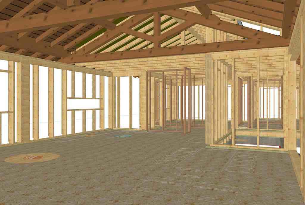 Ipema - Casa de madera pasiva - Parrillas 90